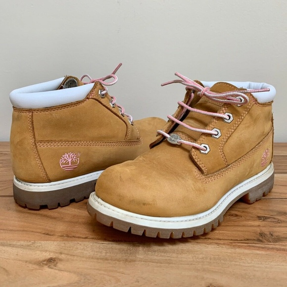 Timberland Women's Leather Work Boots 28370 Size 6